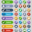 Web design buttons set — Stockvector