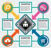 Modern infographics options — Stock Vector