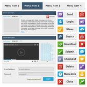 Online shop flat design elements set — Vettoriale Stock