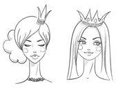 Princess. Sketches style — Stock Vector