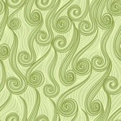 シームレスな抽象的な手描きのパターン、波背景 — ストックベクタ