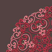 Ornamental round lace in fantasy style — Vector de stock