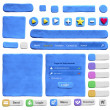 Set of web design elements from plasticine — Stock Photo #42873743