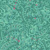 矢量无缝纹理与抽象花 — 图库矢量图片