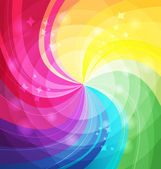 Rainbow bright background with rays — ストックベクタ