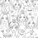 naadloze patroon met prachtige prinsessen — Stockvector  #46018269