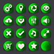 Green web icons collection — Stock Vector #46287333