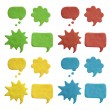 Plasticine speech bubbles — Stock Photo #46584337