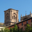 Belfry of the cathedral of Granada, Spain — Stock Photo #15303283