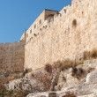 Wall of Jerusalem Old City near the Dung gate — Stock Photo