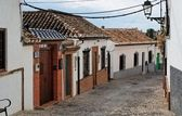 Small curved street in Granada, Spain — Stock Photo