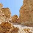 Stock Photo: Scenic weathered orange rocks in stone desert