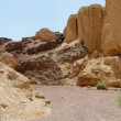 Stock Photo: Scenic trek in desert canyon, Israel