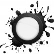 Round inkblot icon — Stock Vector