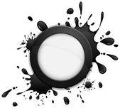 Round inkblot icon — Stock Vector