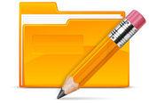 Folder and pencil — Stock Vector