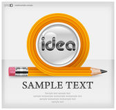 Transformed pencil & text — Stock Vector