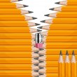 Zipper pencils — Stock Vector #13177267