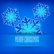 Snowflake in blue & text — Imagen vectorial