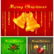 Stock Vector: Color Christmas background & text