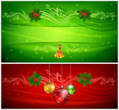 Two color Christmas background & text — Vector de stock