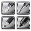 Square pen icons — Stock Vector #16831135