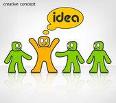 Creative team — Stock Vector