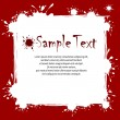Text on inkblots background — Vettoriali Stock