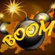 Vector de stock : Bomb background