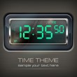 Digital watch & text — Stock Vector