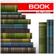 Book stacks on white — Stock Vector