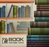 Book stacks on shelf — Stock Vector
