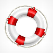 Life buoy on white — Stock Vector