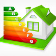 Energy efficiency rating with house — Stockvector #26831441
