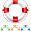 Stock Vector: Color life buoy on white