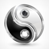 Yin ヤンの金属記号 — ストックベクタ