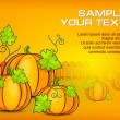 Halloween pumpkins & text — Stock Vector
