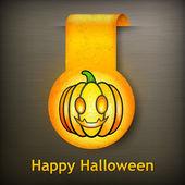 Halloween sticker grimace pumpkin — Stock Vector