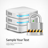 Database security concept — Stock Vector