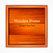 Wooden board with frame — Stock Vector