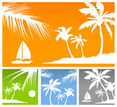 Palms color background — Stock Vector