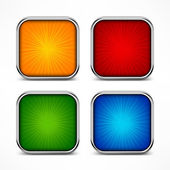Colored square buttons — Stock Vector