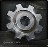 Gear on metal — Stockvektor