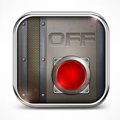 Off switch button — Stock Vector