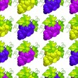 Cluster grapes seamless pattern — Stock Vector #48106553
