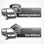 Van promotion banner — Stock Vector