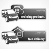 Banner promocji van — Wektor stockowy