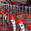Bar counter with the row of stools — Stock Photo