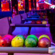 Balls in bowling — Stock Photo