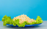 Vermicelli and lettuce — Stock Photo